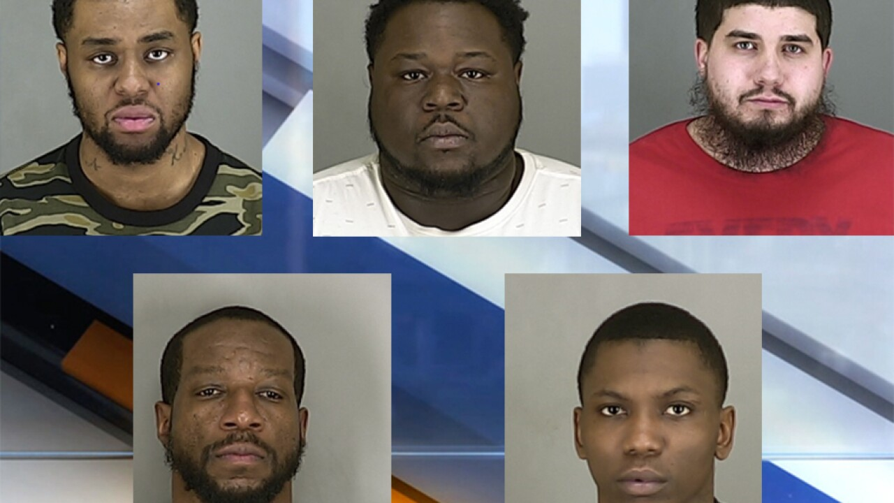 Police arrest 5, seize 88 pounds of marijuana and $150,000