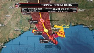 Hurricane Barry 10 am