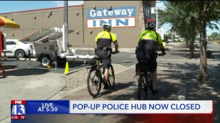 Pop-up police hub closes in high-crime SLCarea