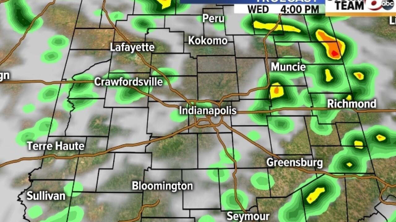 TIMELINE: See where rain is expected