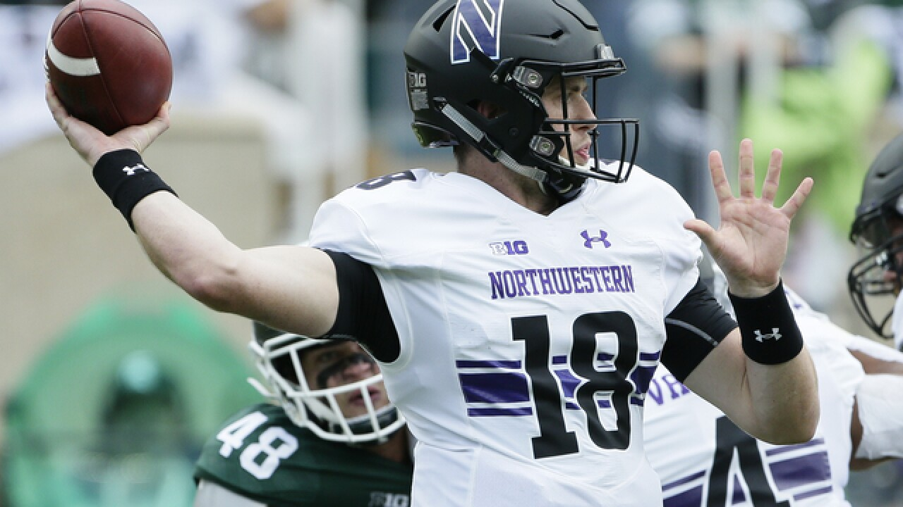 Clayton Thorson leads Northwestern past No. 20 Michigan State