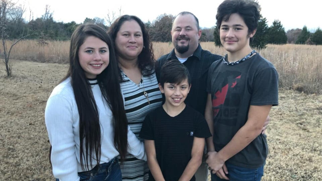 An Oklahoma family fled flooding only to be slammed by a tornado