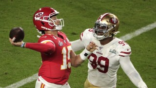 49ers Chiefs Super Bowl Football Patrick Mahomes