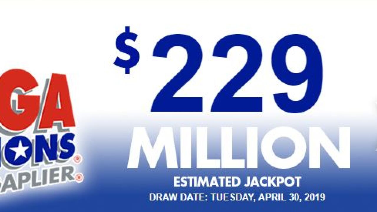 Mega Millions Jackpot Grows To 229 Million In Tuesday Night S Drawing