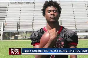 Family to update Northeast High football player in ICU from brain condition