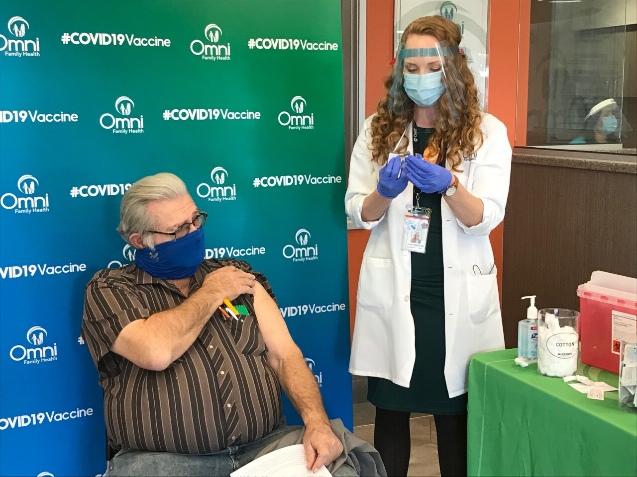 Omni Family Health vaccinates residents 65 and older