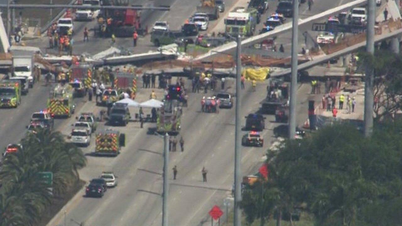 Six dead in pedestrian bridge collapse at Florida International Univ