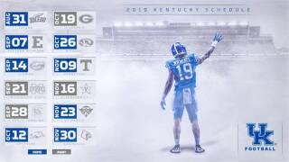 Kentucky Set for Home-Heavy 2019 Football Schedule