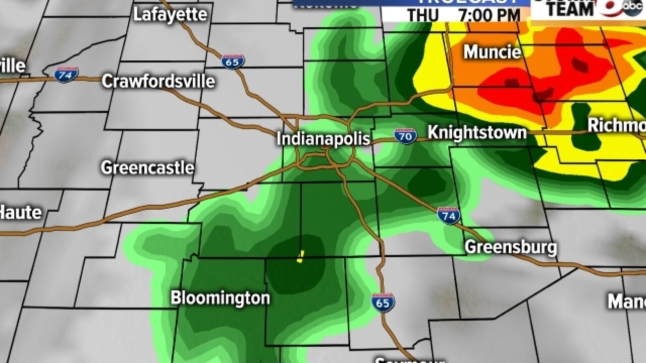 TIMELINE: Severe weather headed toward Indiana
