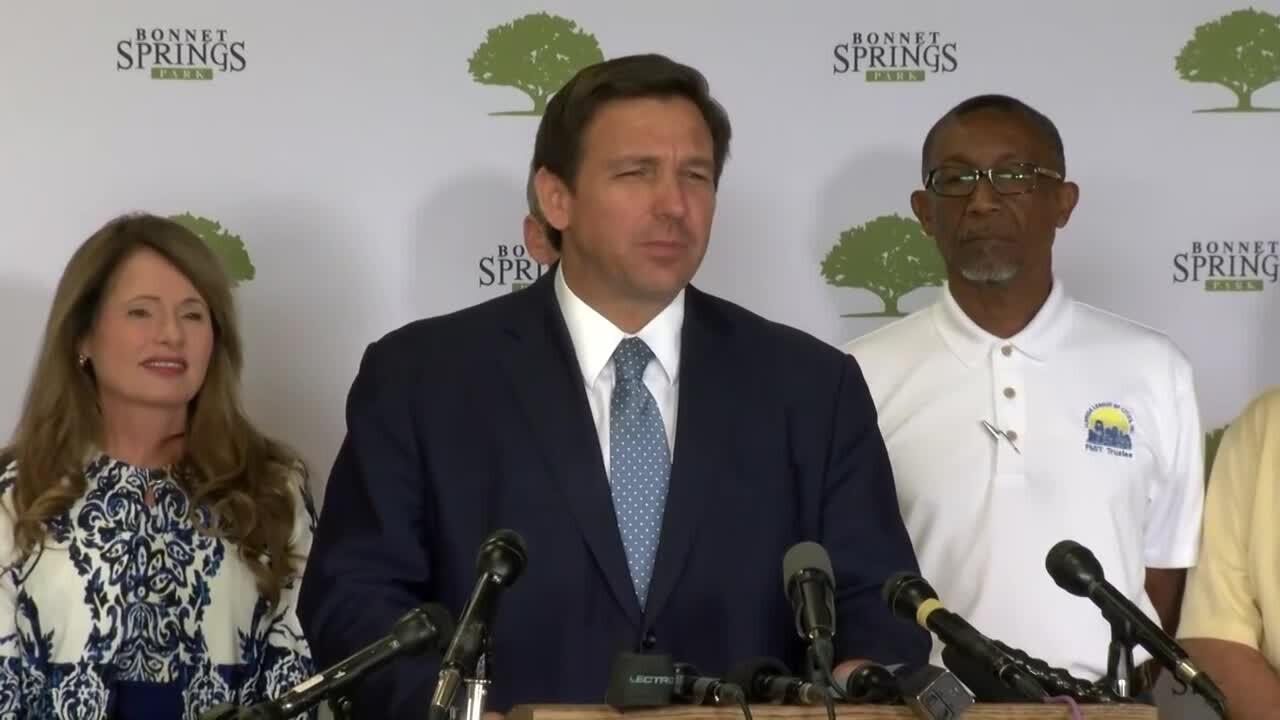Florida Gov. Ron DeSantis holds a news conference in Lakeland on April 16,2021.jpg