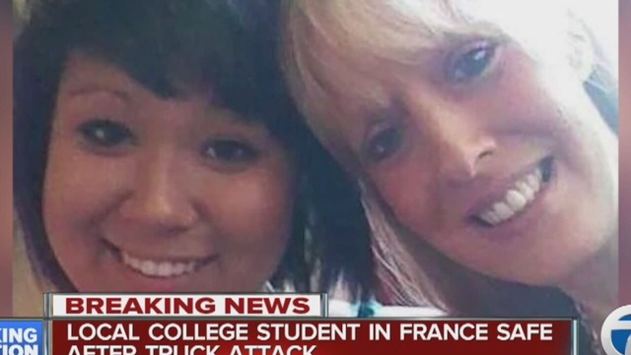 Mom of student in Nice, France speaks to WXYZ