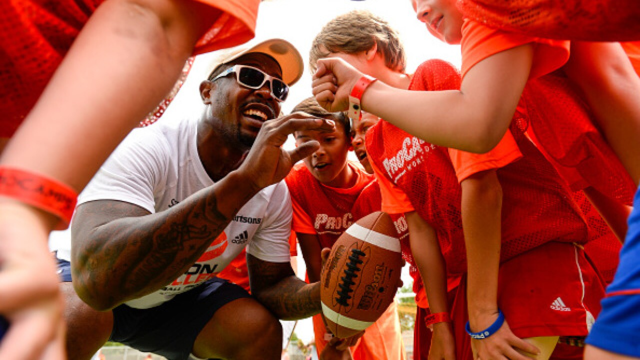 Von Miller gets back on the football field – at his camp