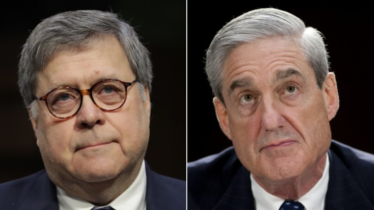 Barr says he will not stop Mueller from testifying before Congress