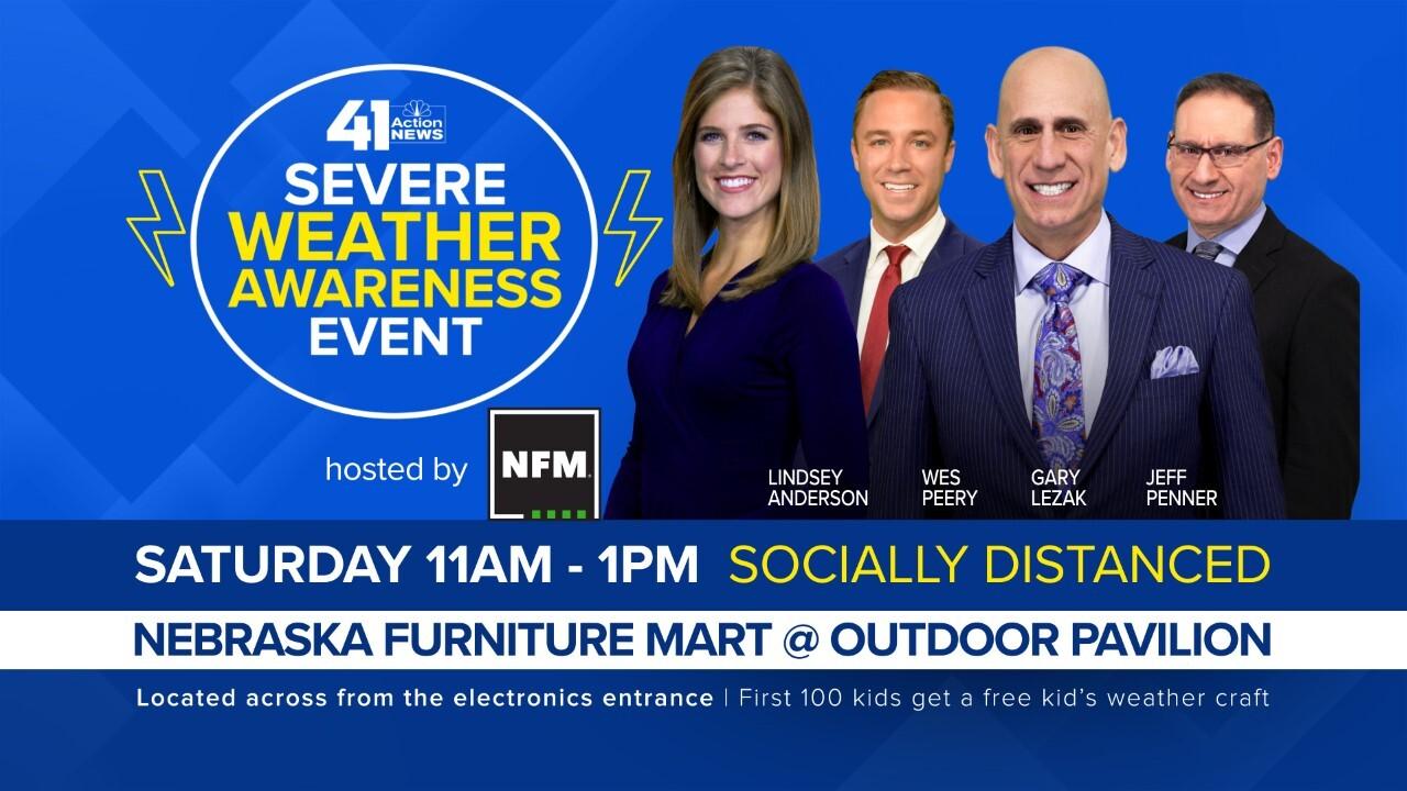 Severe Weather Day At Nebraska Furniture Mart Saturday