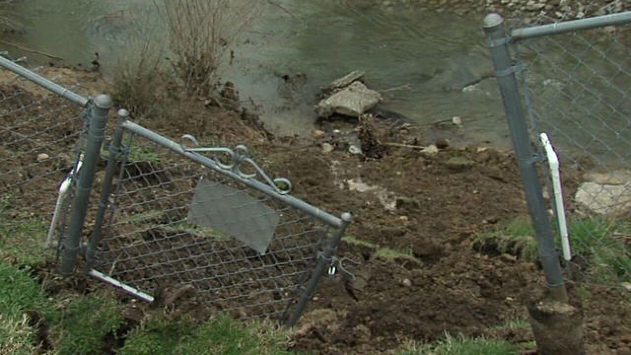 Heavy rain has Indy house close to creek edge