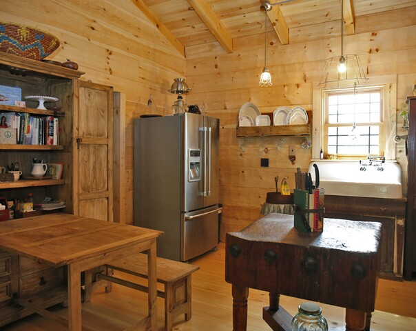 Home Tour: This unique 'hybrid log cabin' in Ludlow gives the Chapmans a peaceful place to retire