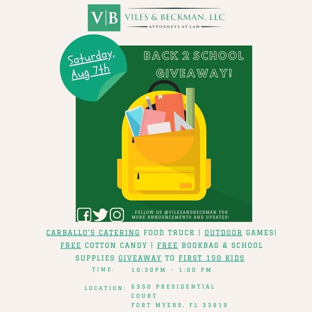 Viles & Beckman Back to School Event
