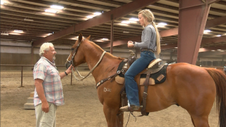 Power's Olivia Grimsley prepares for National High School Finals Rodeo