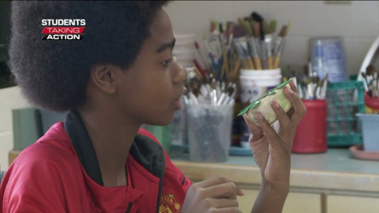 Students Taking Action: Middle schooler goes above and beyond for former artteacher