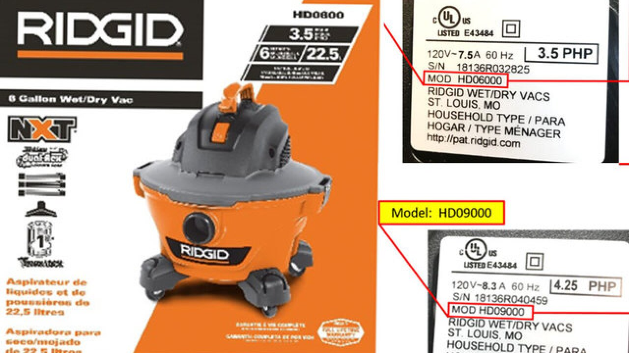 Vacuums recalled due to shock hazard