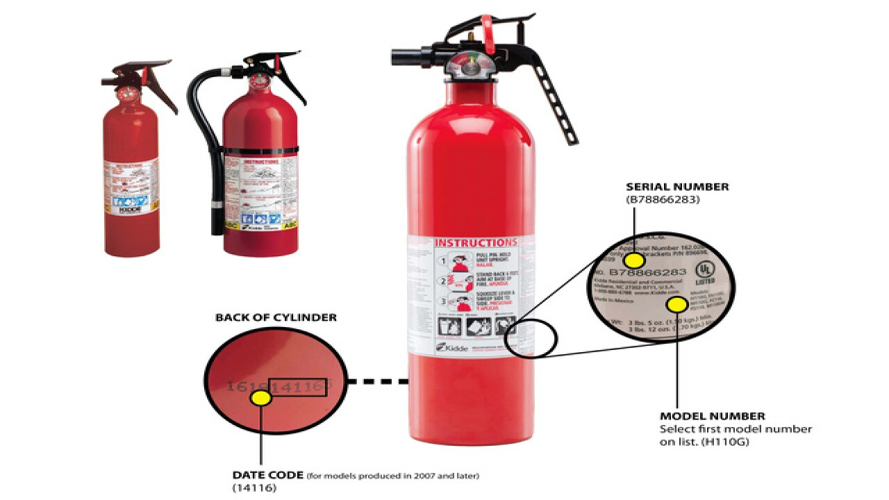37.8M fire extinguishers made over 44 years recalled; 1 death reported