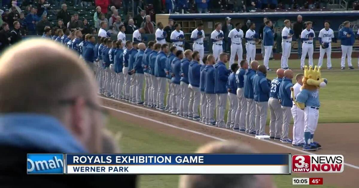 Kansas City Royals in Omaha for the first time in 19 years