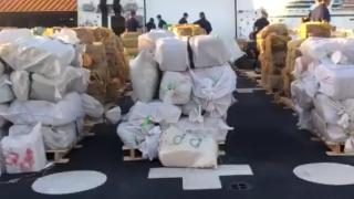 U.S. Coast Guard offloading nearly $400M in cocaine, marijuana at Florida port