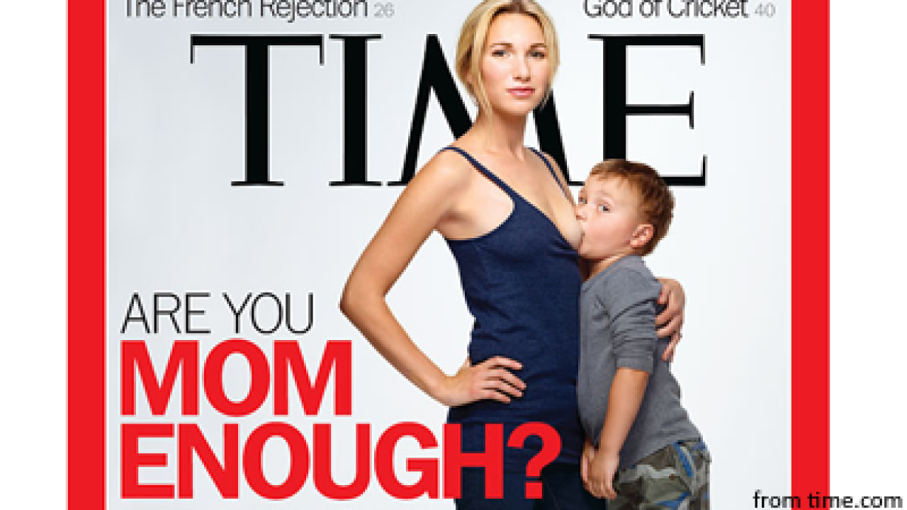"Provocative cover asks, ""Are you mom enough?"""