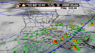 Unsettled into weekend followed by winter chill for Mardi Gras