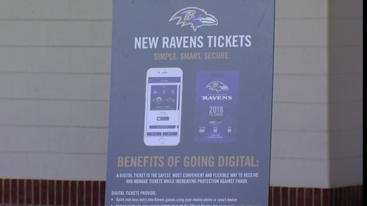 Ravens announce new gameday ticket system, new technology for fans