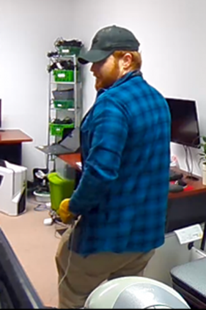 Photos: Virginia Beach Police search for suspect after computers stolen frombusinesses