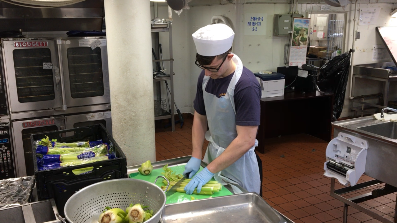 USS Dwight D. Eisenhower prepares Thanksgiving feast to feed500
