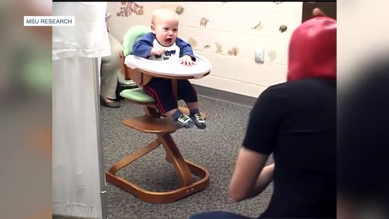 MSU research on fear with infants