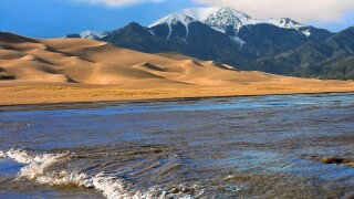 Medano Creek at the Great Sand Dunes National Park and Preserve.jpg