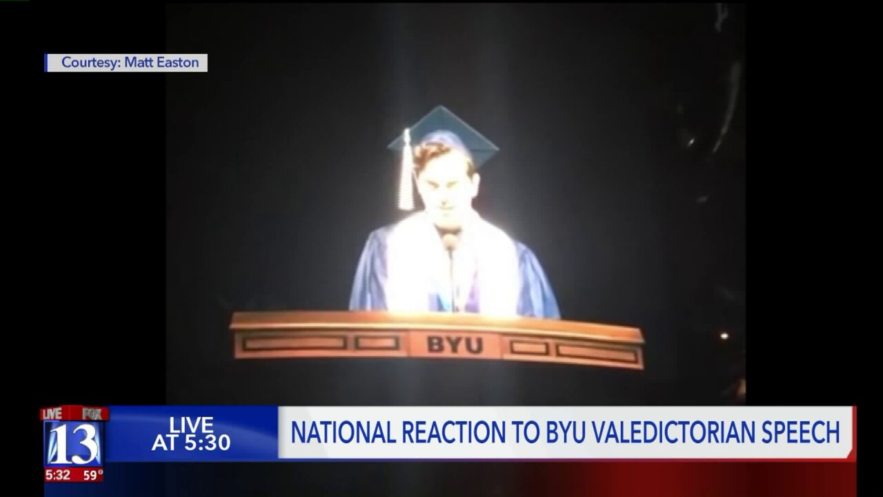 BYU valedictorian comes out as gay during his commencementspeech