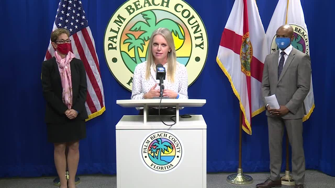 Palm Beach County Commissioner Melissa McKinlay speaks about lack of Publix locations in western Palm Beach County, Jan. 19, 2021