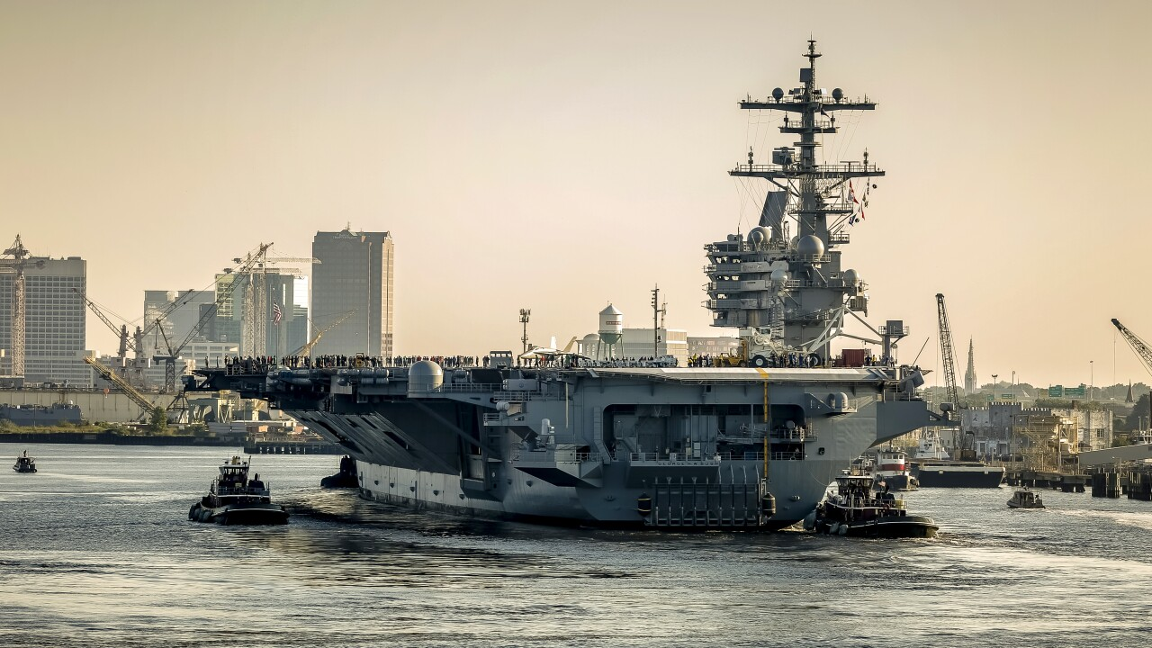 USS George H.W. Bush heads to sea after more than a year in the shipyard