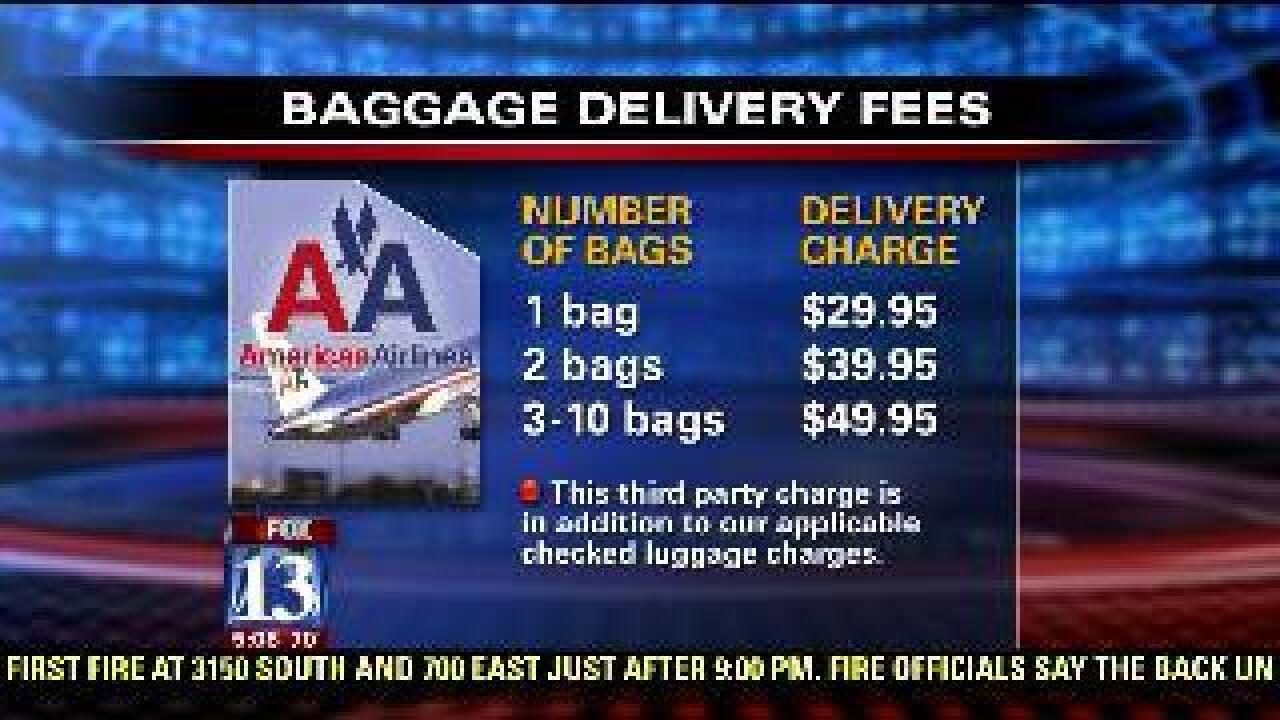 Airline offers luggage delivery service