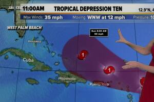 Tropical Depression 10 forms in central Atlantic Ocean, forecast to become Hurricane Imelda