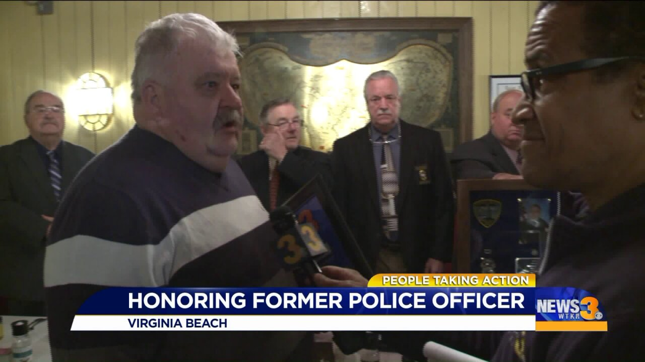 Crime-fighter recognized for three decades of volunteer work with local policedepartment!