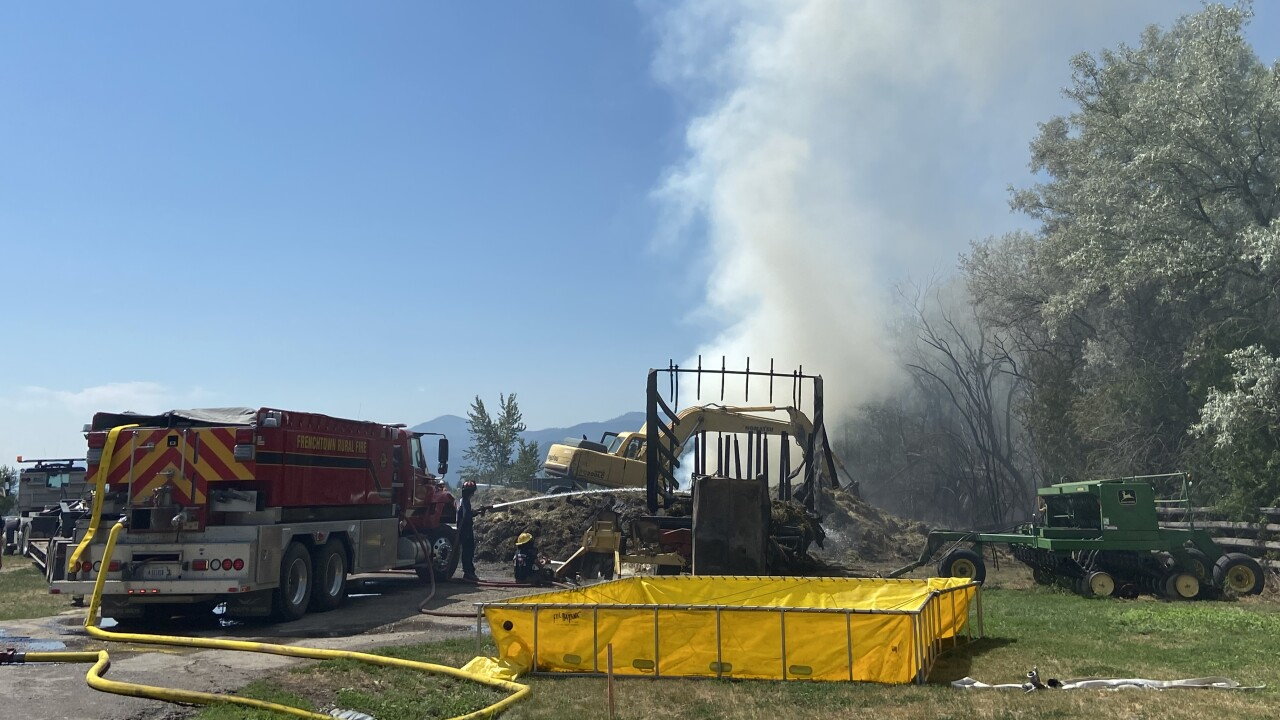 Frenchtown Hay Barn Fire
