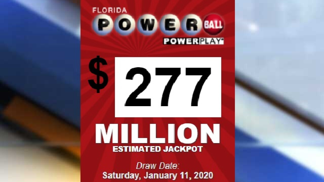 277 Million Jackpot On The Line In Saturday Night S Powerball Drawing