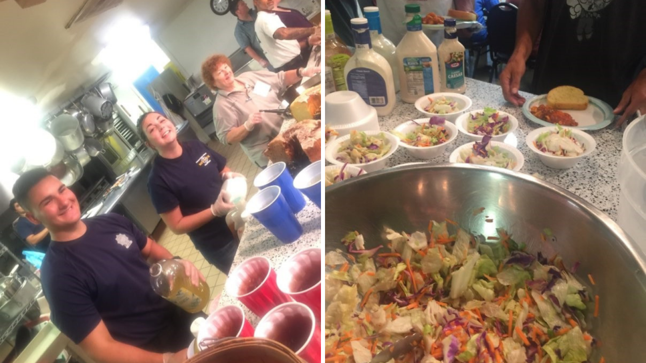 Chesapeake Beach Rescue Squad hosts dinner for the homeless