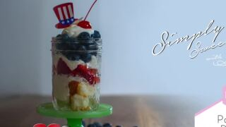 Patriotic Parfait, perfect for the Fourth of July!