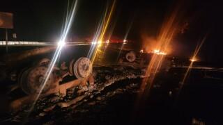 Basin tanker crash