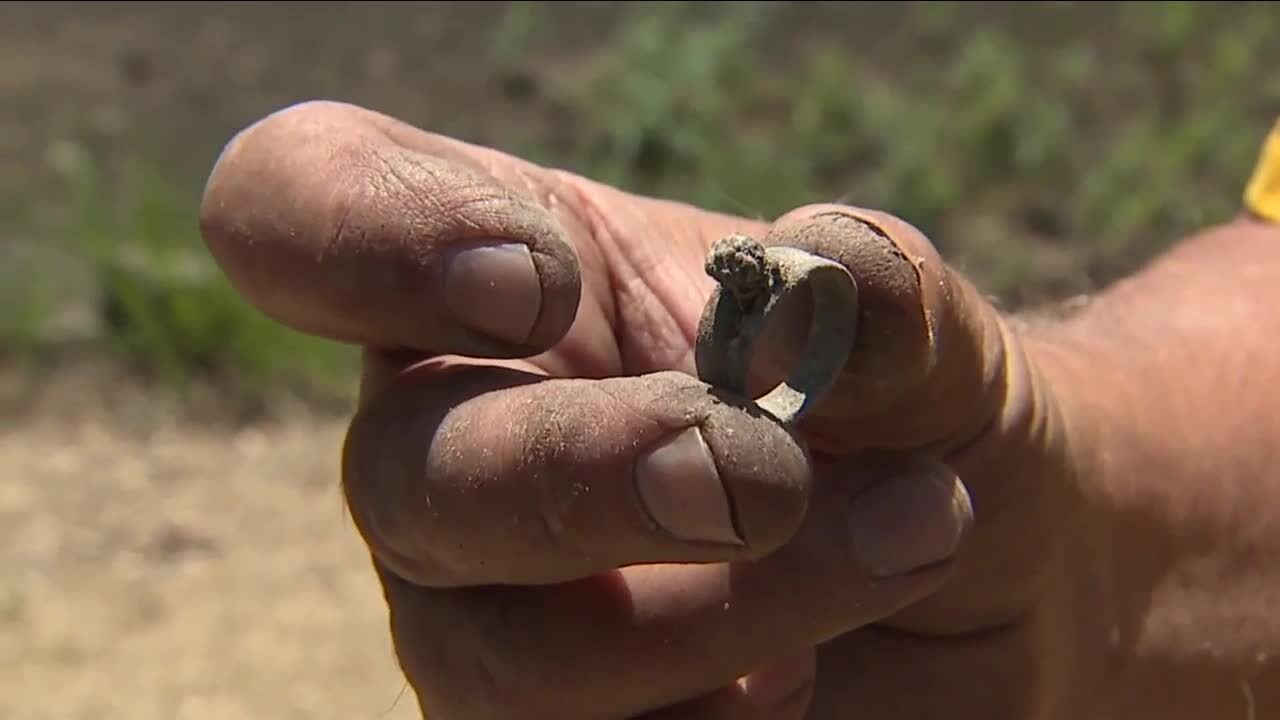 Denver7 Gives: Volunteers help with wildfire recovery and clean up_ring found
