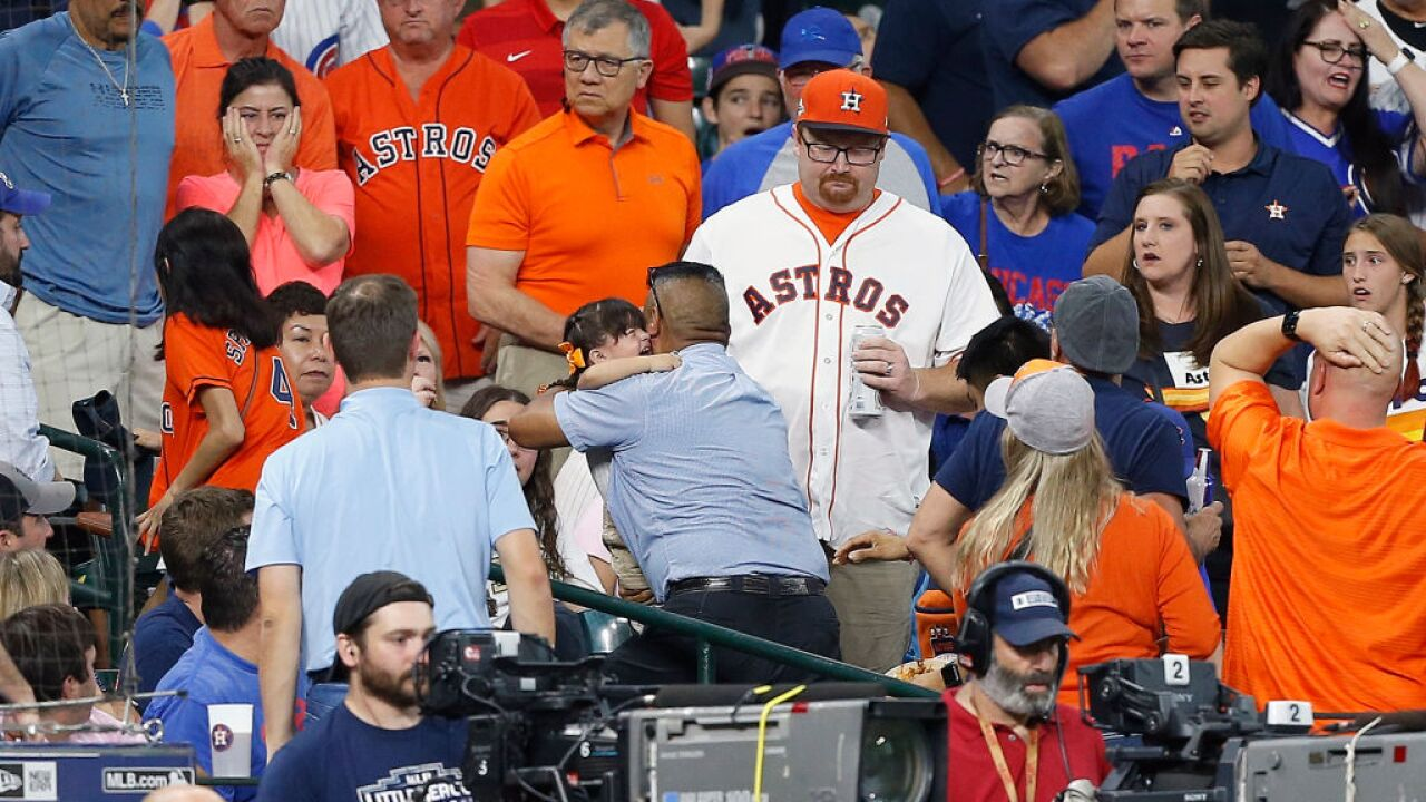 Fans, players shaken after child struck by foul ball during baseball game