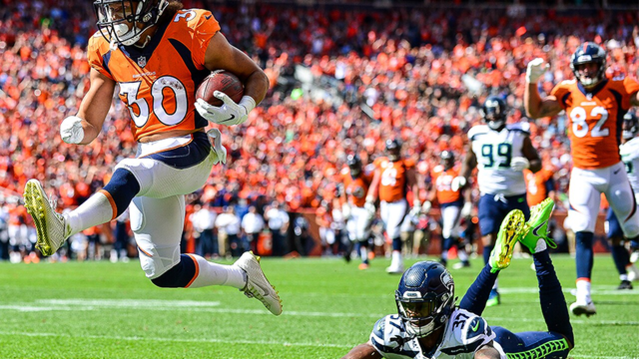 WATCH: Broncos' Phillip Lindsay's first NFL touchdown