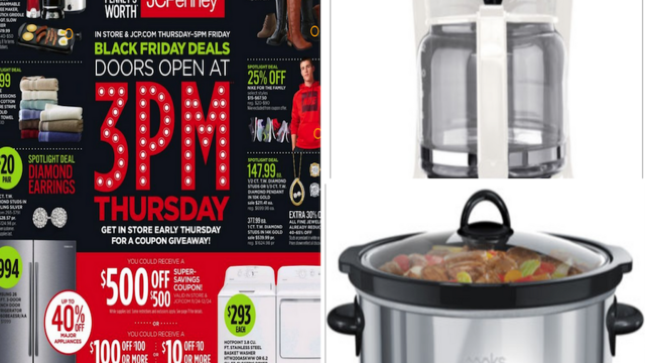 JCPenney Black Friday ad shows $4.99 slow cooker