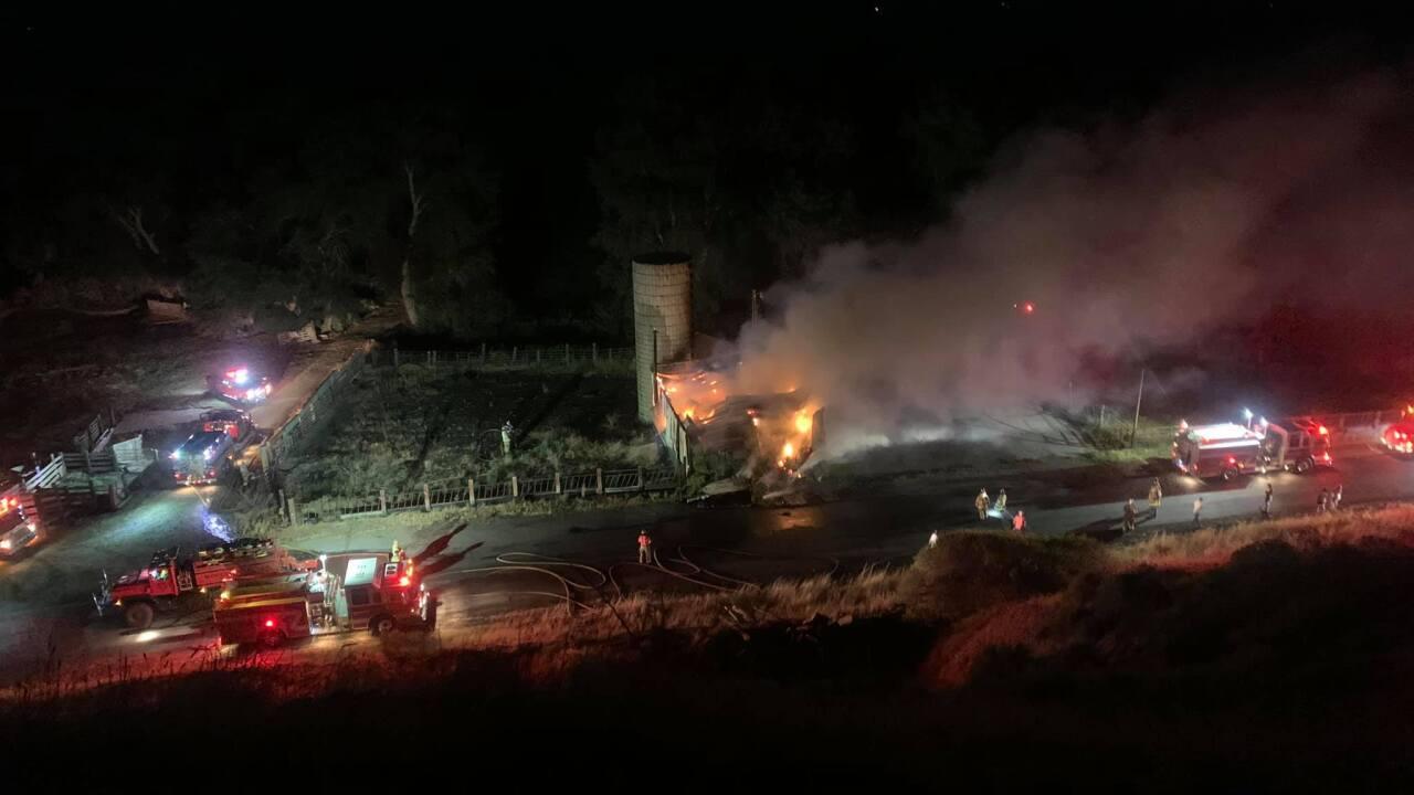0725 SPANISH FORK BARN FIRE CAUSED BY FIREWORKS COURTESY STEPHANIE STEVENSON.jpg